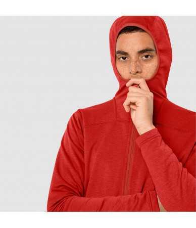 Vyriškas džemperis JACK WOLFSKIN HORIZON HOODED raudonas