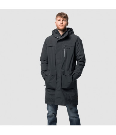 Vyriška žieminė striukė JACK WOLFSKIN COLD BAY PARKA| pilka