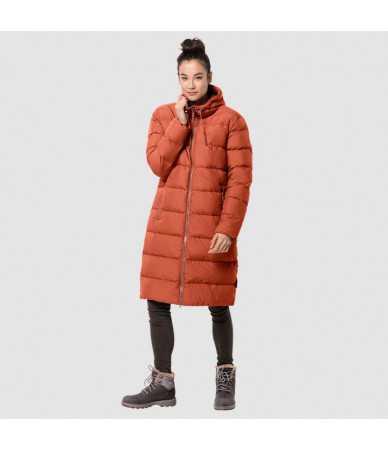 Žieminis paltas moterims JACK WOLFSKIN CRYSTAL PALACE COAT oranžinis