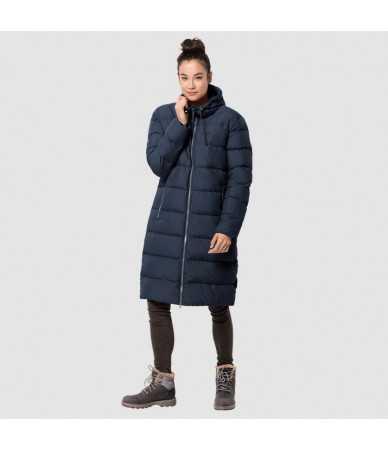 Žieminis paltas moterims JACK WOLFSKIN CRYSTAL PALACE COAT mėlynas