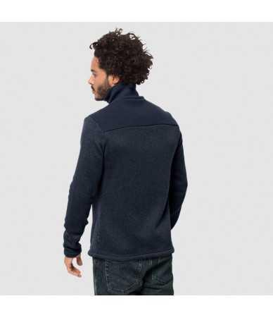 Vyriškas džemperis JACK WOLFSKIN SCANDIC | t.mėlynas