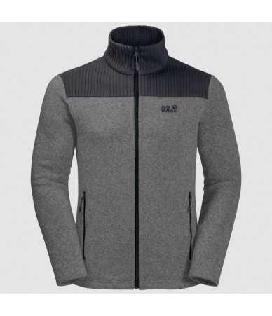 Vyriškas džemperis JACK WOLFSKIN SCANDIC | pilkas