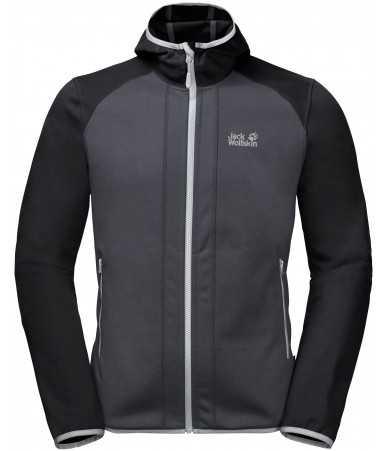 Vyriškas džemperis JACK WOLFSKIN Hydro Hooded | pilkas