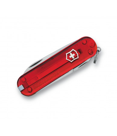 Victorinox Peilis Classic SD in red transparent