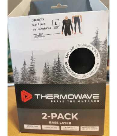 Termo rūbų komplektas Thermowave juodas