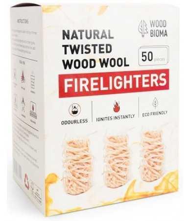 Susuktos medienos vilnos įdegtukai FIRELIGHTERS