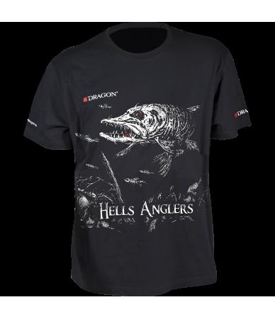 Marškinėliai Dragon Hells Anglers lydeka