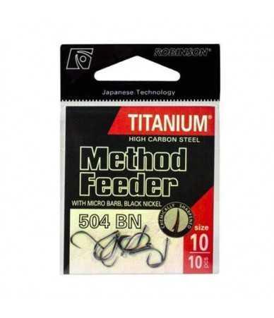 Kabliukai Robinson Titanium Method Feeder 504 BN