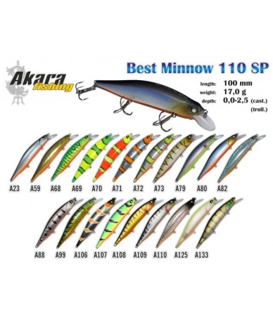 Vobleriai Akara Best Minnow 110SP
