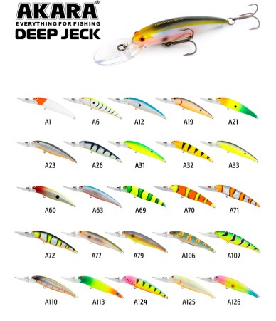 Vobleriai Akara Deep Jeck 90F 12g