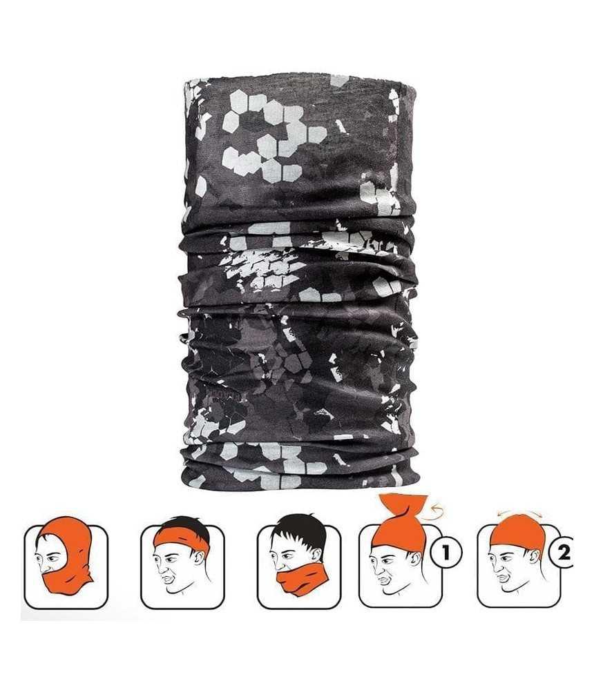 Kaklaskarė Fladen Pixel Camo juoda