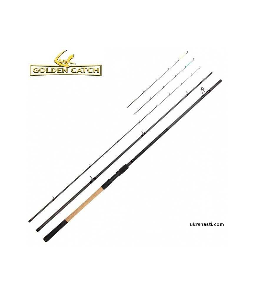 Meškerė Golden Catch Bionic Feeder Black Edition 3,9m 120g