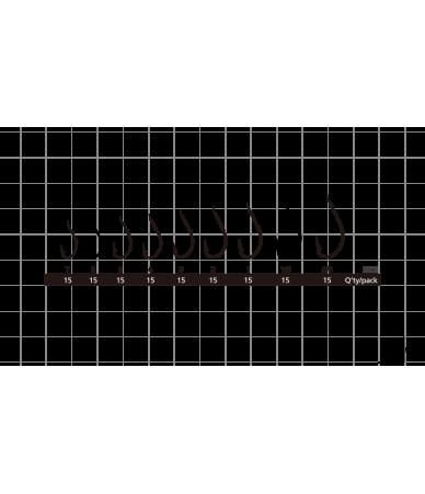 Kabliukai Hayabusa H.MRS172 Maruseigo Black nickel