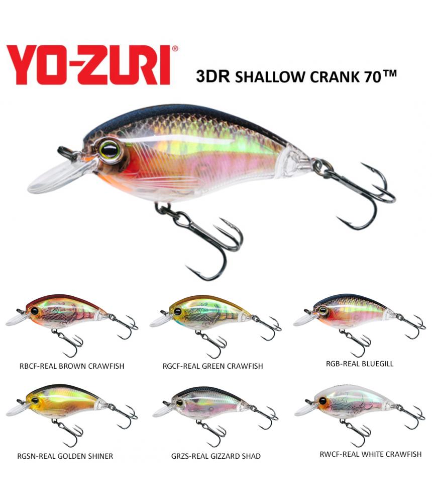 Vobleriai Yo- Zuri 3DR Shallow Crank 5cm 8g