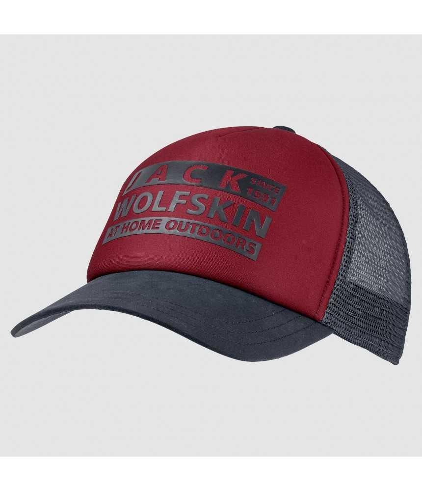 Kepurė su snapeliu Jack Wolfskin BRAND MESH CAP raudona