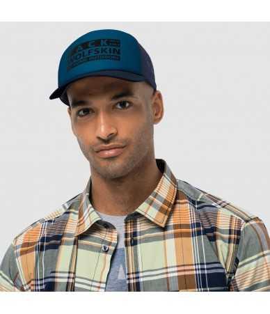 Kepurė su snapeliu Jack Wolfskin BRAND MESH CAP mėlyna
