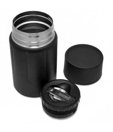 Pietų termosas Sigg Gemstone Obsidian 0.75l | juodas