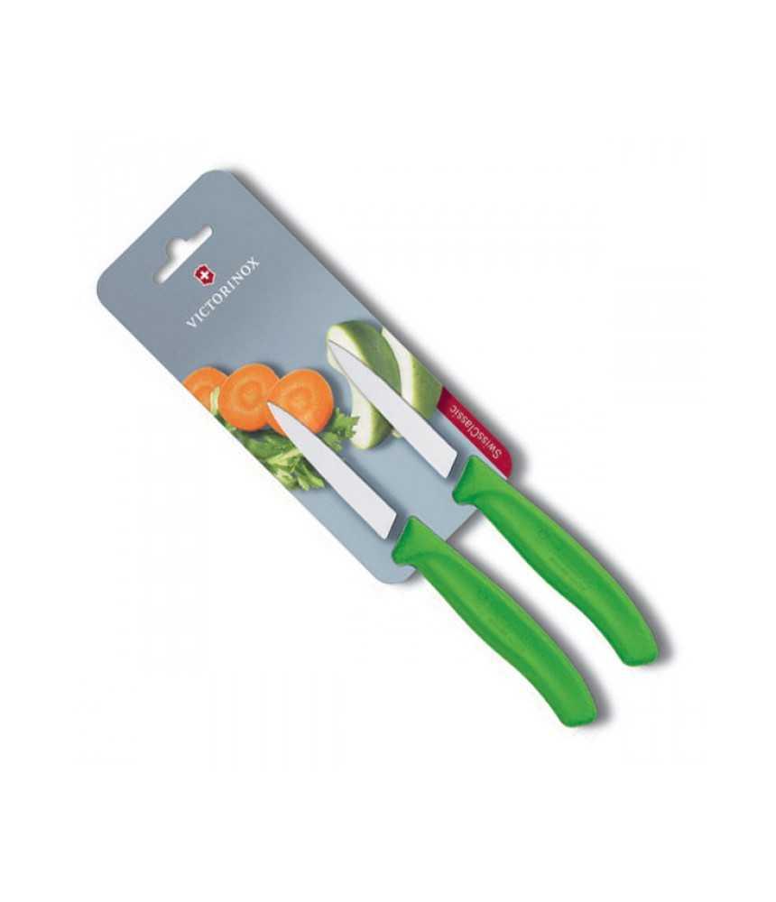 Virtuvinis peilis Victorinox 6.7606.L114 žalias 8cm 2vnt.