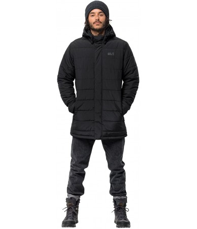 Žieminis paltas vyrams JACK WOLFSKIN SVALBARD COAT | JUODA