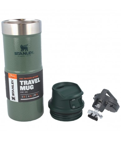 Termopuodelis Stanley Classic Trigger-Action Travel Mug 0.35 l. - žalias