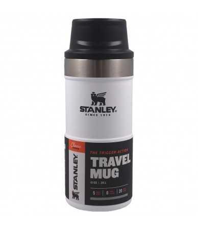 Termopuodelis Stanley Classic Trigger-Action Travel Mug 0.35 l. - baltas