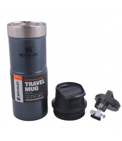Termopuodelis Stanley Classic Trigger-Action Travel Mug 0.35 l. - mėlynas