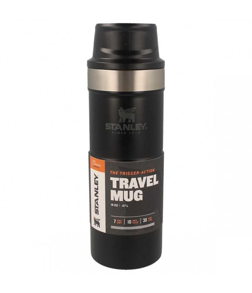 Termopuodelis Stanley Classic Trigger-Action Travel Mug 0.47L juodas