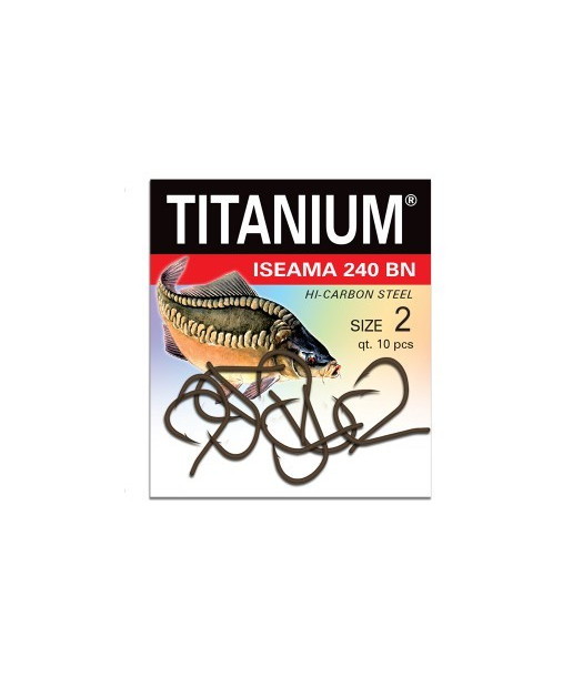 Kabliukai karpiams Robinson  Titanium ISEAMA 240BN