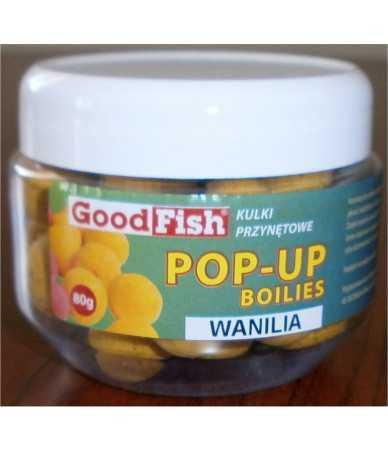 Baltyminiai kukuliai GoodFish Pop-up (3 kvapų: vanilė, braškė,tutti-frutti))