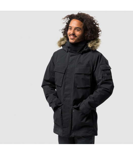 Vyriška žieminė striukė JACK WOLFSKIN  GLACIER CANYON PARKA| juoda