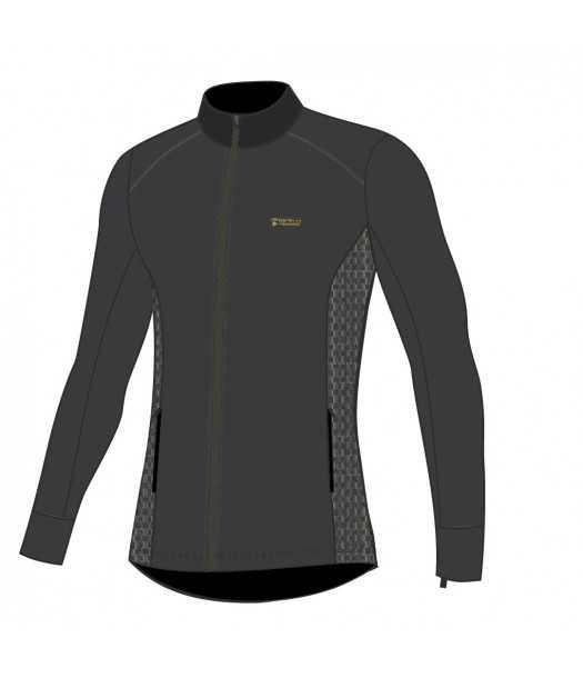 Termo džemperis su užtrauktuku vyrams Thermowave MERINO ARCTIC | juodi