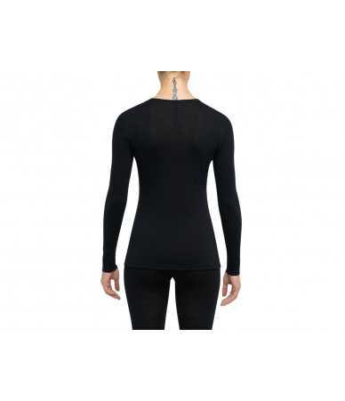 Termo marškinėliai  Moterims Thermowave MERINO ONE50| juodi