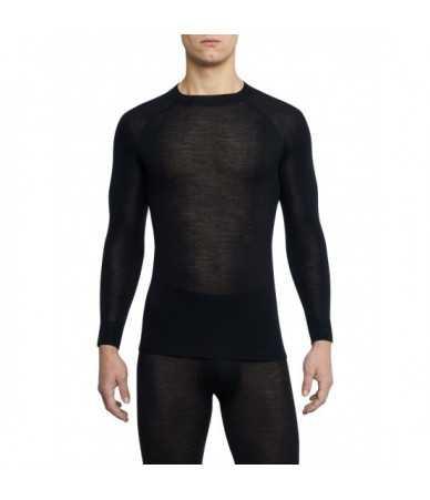 Termo marškinėliai vyrams Thermowave MERINO WARM | juodi