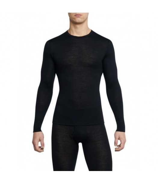 Termo marškinėliai vyrams Thermowave MERINO ONE50| juodi