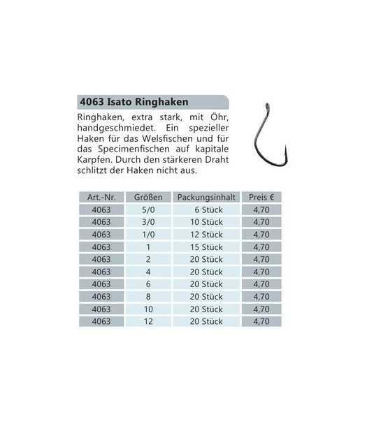 Kabliukai BYRON ISATO 4063 Nr.8