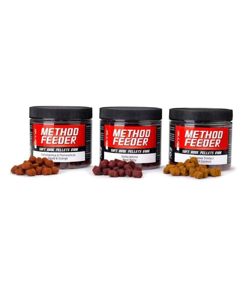 Tandem Baits peletės Method Feeder Soft Hook 8mm /120g