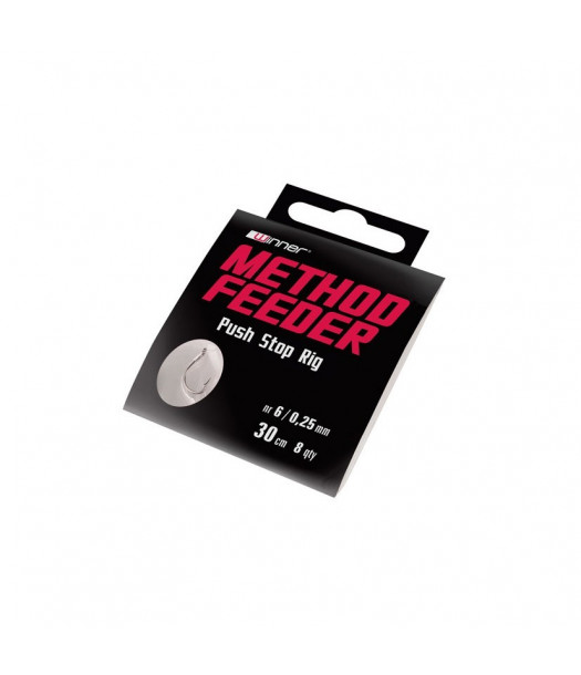 Method feeder pavadėlis su kabliuku ir plauko sistemėle NR.6 0,25mm/30cm